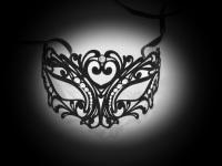 Tattoo Filigree Metal Mask - Black Velvet