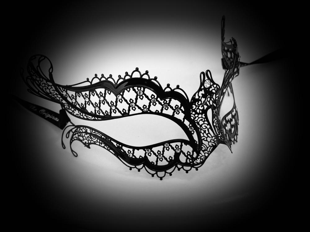 Mon Amour Strass Filigree Mask - Vampire Diaries