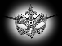 Inferno Filigree Mask - Swarovski Edition