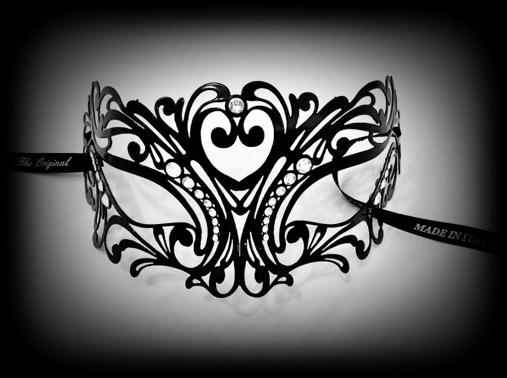 Tattoo Strass Filigree Metal Lace Mask