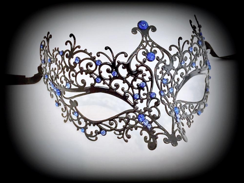 Ricciolo Filigree Mask - Blue Edition