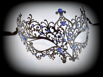 Ricciolo Filigree Mask - Blue Edition
