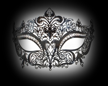 Queen Strass Venetian Filigree Mask - Lux Edition