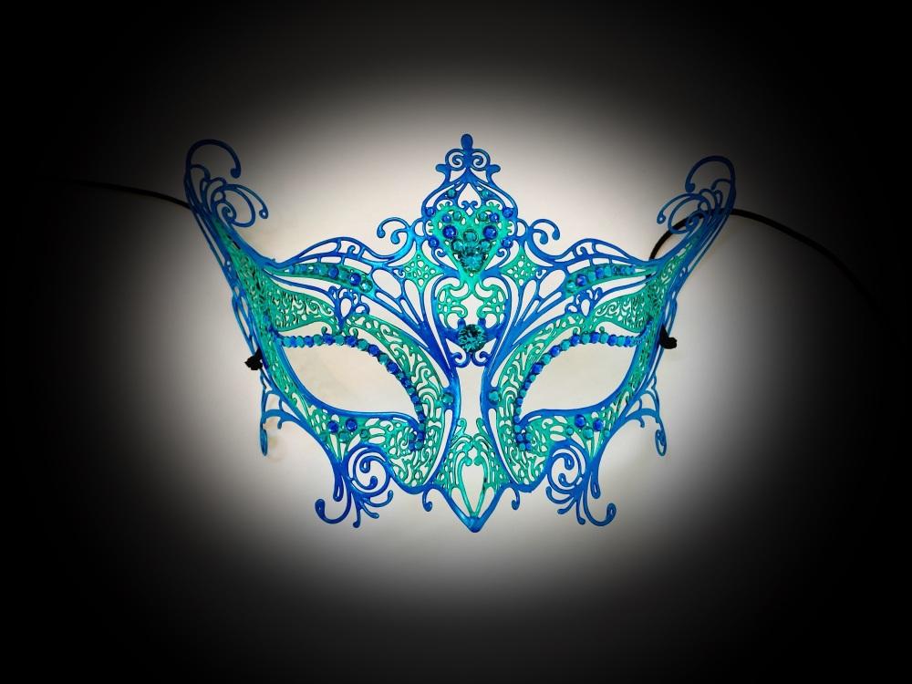 Elegance Aqua Filigree Mask
