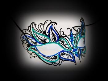 Petalo Filigree Mask - Blu Verdi