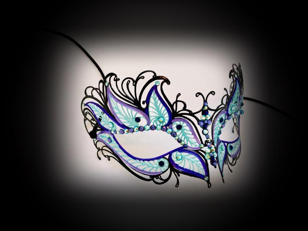 Petalo Filigree Mask - Turchese