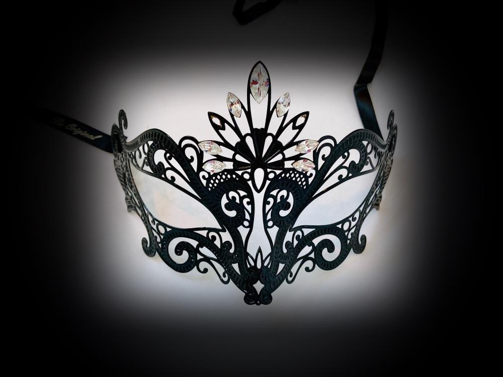 Romance Filigree mask - Black