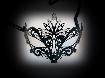 Romance Filigree mask - Black