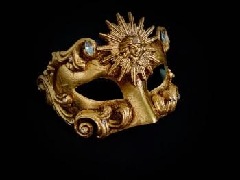 Sole Luxury Venetian Masquerade Ball Mask - Gold