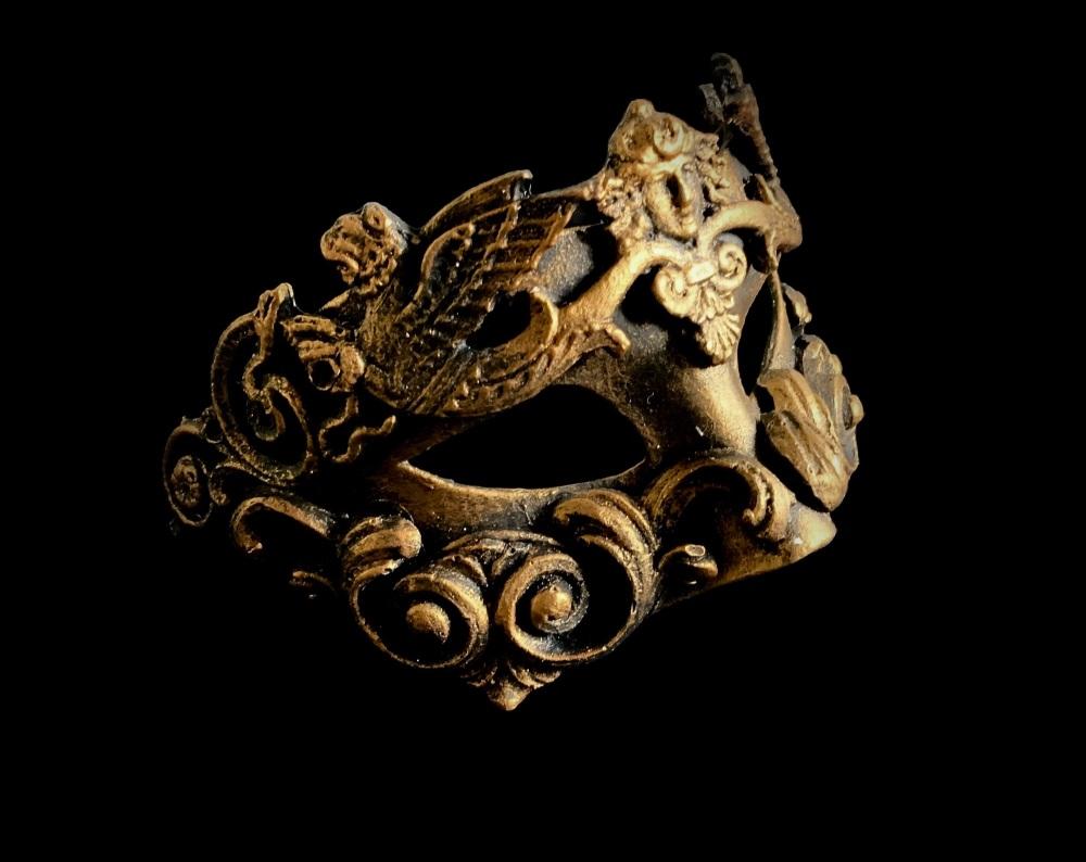 Grifone Luxury Venetian Masquerade Ball Mask - Bronze