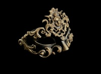 Dama Luxury Masquerade Ball Mask - Bronze
