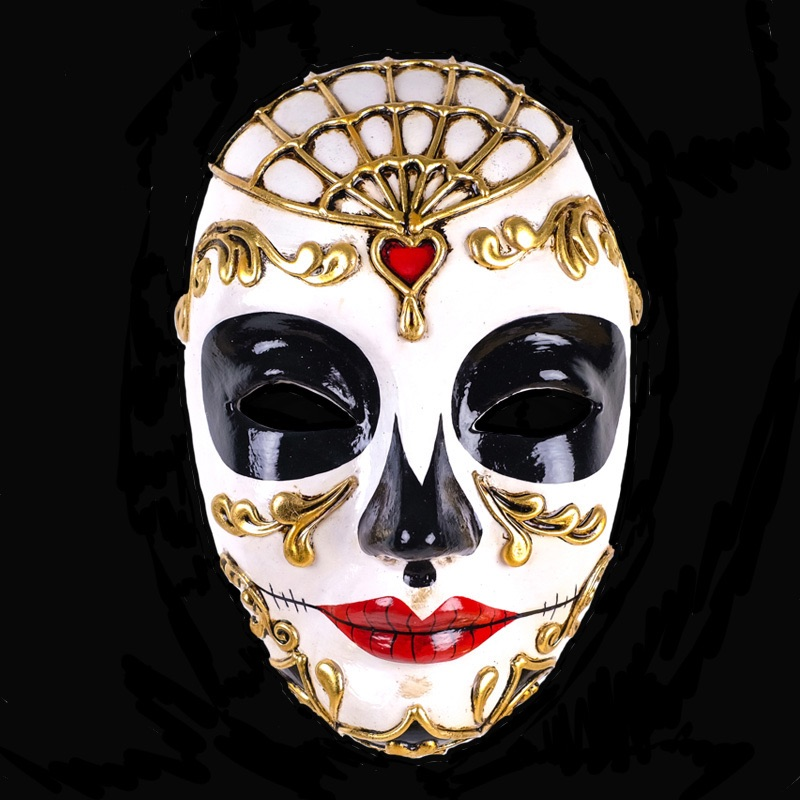 Bi-Colour Masquerade Mask - Female