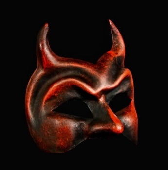 Female Diavolo Masquerade Mask - Red
