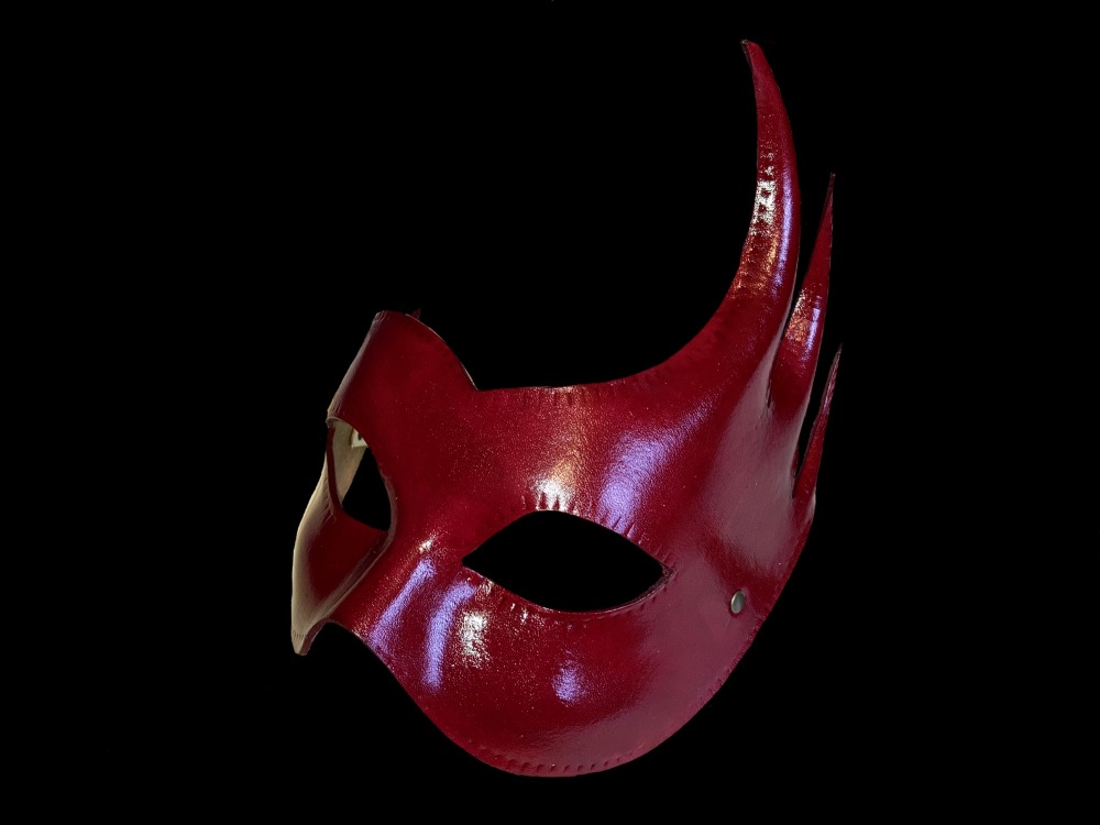 Red Conquest Leather Mask