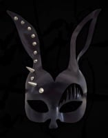 Black Leather Stud Bunny Girl Mask