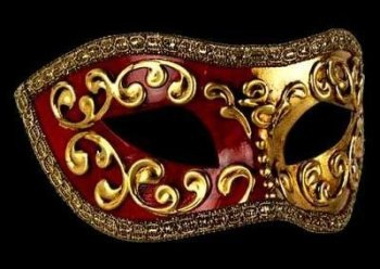 Mezza Masquerade Masks - Red