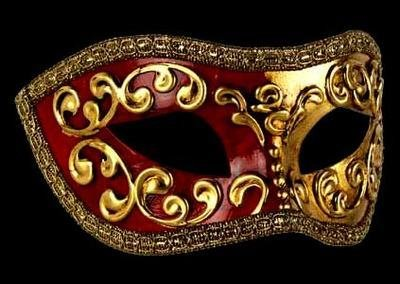 Mezza Masquerade Mask - Red