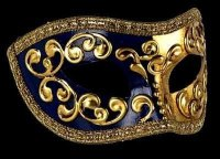 Mezza Masquerade Masks - Blue