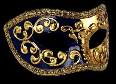 Mezza Masquerade Mask - Blue