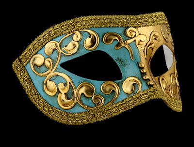 Mezza Masquerade Mask - Sky Blue