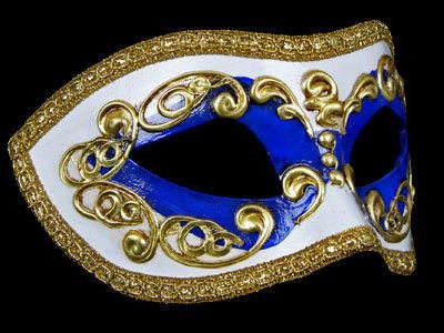 Occhi Masquerade Mask - Blue