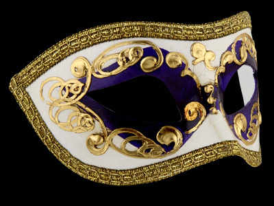 Occhi Masquerade Mask - Purple