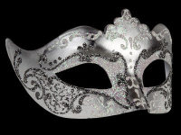 Stella Masquerade Masks - Silver White
