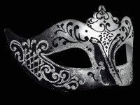 Stella Masquerade Masks - Silver Black