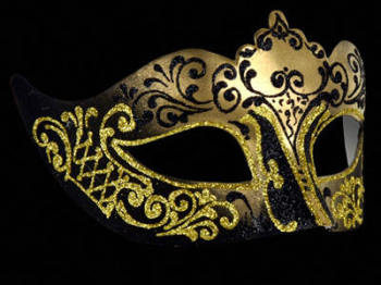 Stella Masquerade Masks - Gold Black