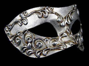 Stucchi Masquerade Masks - Silver
