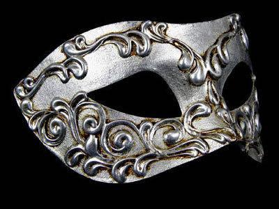 Stucchi Masquerade Mask - Silver