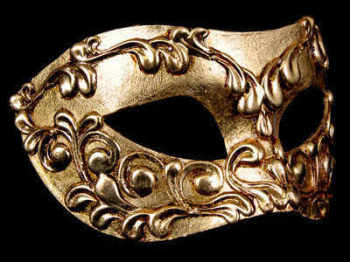 Stucchi Masquerade Masks - Gold