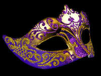 Stella Masquerade Masks - Gold Purple