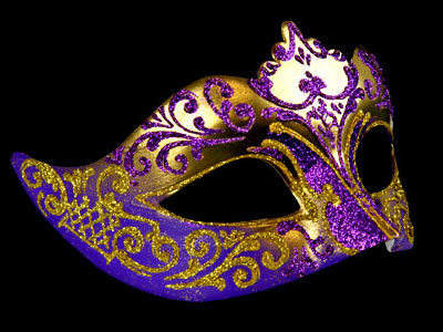 Stella Masquerade Mask - Gold Purple