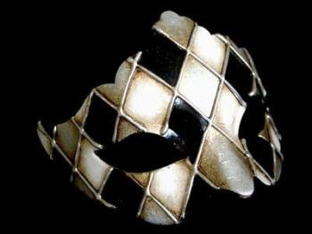 Rombi Lady Masquerade Masks - Silver