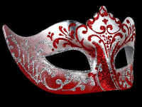 Stella Masquerade Masks - Silver Red