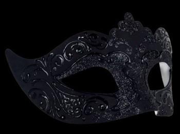 Stella Masquerade Masks - Nero Black