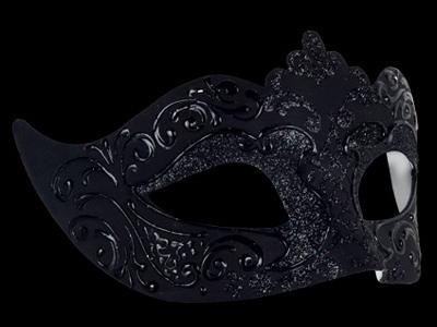 Stella Masquerade Mask - Nero Black