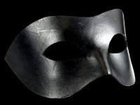 Cuoio Black Leather Mask