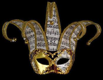 Jester Musica Lux Venetian Masquerade Ball Mask