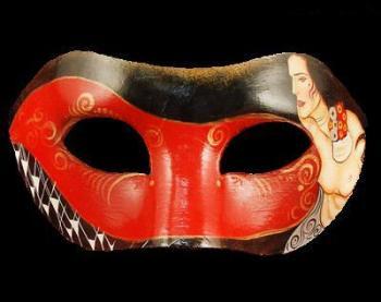 Colombina Nude Masquerade Mask - Black