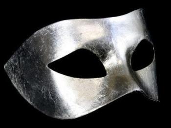 Piana Masquerade Masks - Silver