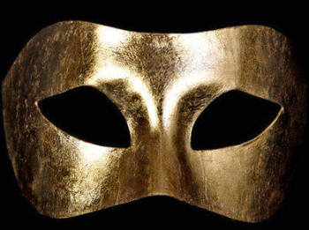 Piana Masquerade Masks - Gold