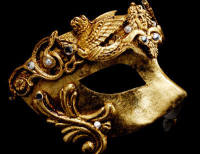 Grifone Luxury Masquerade Ball Mask - Gold