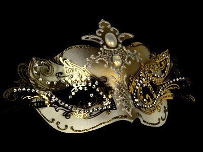 Pure Indulgence Filigree Masquerade Mask - White