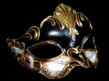Sinfona Lady Masquerade Masks - Black