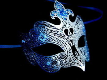 Fantasia Lady Venetian Masquerade Mask - Blue