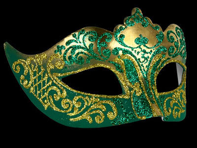 Stella Masquerade Mask - Gold Green