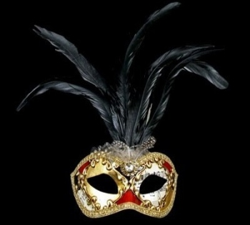 Musica Lux Feather Masquerade Mask