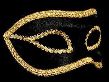 Velluto Venetian Masquerade Masks - Black And Gold